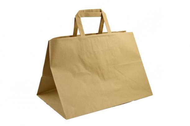 Shopper take away manico piattina sealing avana