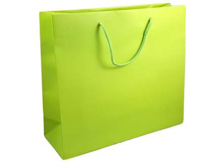 Shopper lux verde matt personalizzabile