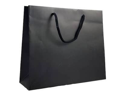Shopper lux nero matt personalizzabile