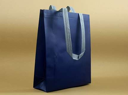 Shopper lux tnt blu matt personalizzabile