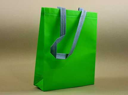 Shopper take away manico piattina kraft bianco in carta