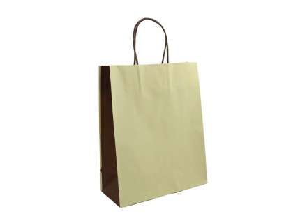Shopper bicolore beige personalizzabile